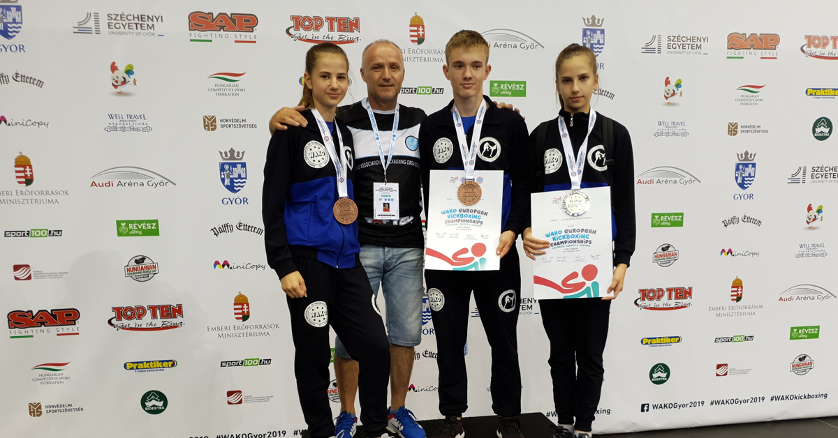 Young kickboxers in Hungary