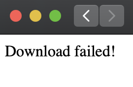 download failed